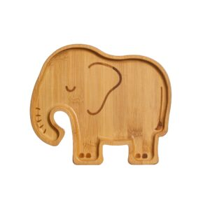 Elephant Bamboo Tableware Set Plate and Spoons Baby Gift (SKU1216)
