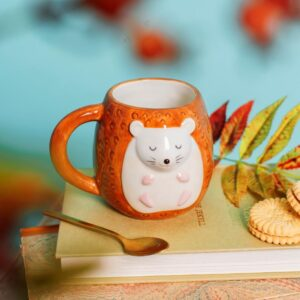 This Adorably Designed Woodland Favourites Hettie Hedgehog & Olivia Owl Egg Cups and Mugs – Available As A Set Or Individually (SKU1155)