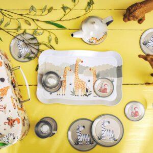 Savannah Safari Tea Set – Children's Play Tea Set – Pretend Play (SKU1125)