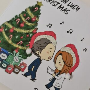 Personalised Christmas Card Greys Anatomy Theme Meredith And Yang You're My Person Dance It Out Friend Mate Husband Wife (SKU1108)