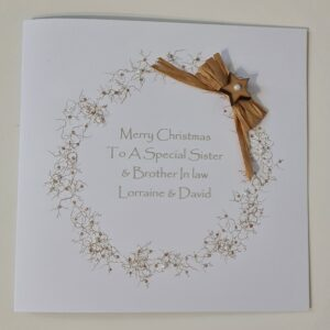 Personalised Contemporary Christmas Card Sister & Brother In Law Any Relation Or Couple (SKU1117)