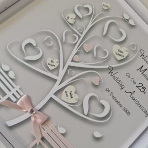 Personalised 25th Wedding Anniversary Card Husband Or Wife Any Year Or Colour (SKU1157)