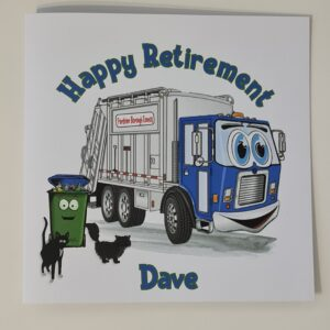 Personalised Retirement Card Refuse Collector / Bin Man / Bin Woman / Dustbin Lorry (SKU1144)