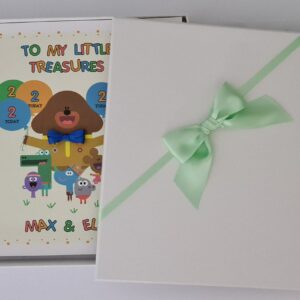Personalised Hey Duggee & Squirrels 2nd Birthday Card Twins Granddaughters Daughters Grandsons Nephews Any Relation Or Age (SKU1149)