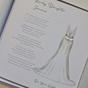 To Our Daughter On Your Wedding Day Personalised Card – Can Be Made To My Bride On Our Wedding Day, Other Dress Available (SKU1164)