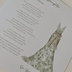 To Our Daughter On Your Wedding Day Personalised Card – Can Be Made To My Bride On Our Wedding Day, Other Dress Available (SKU1156)