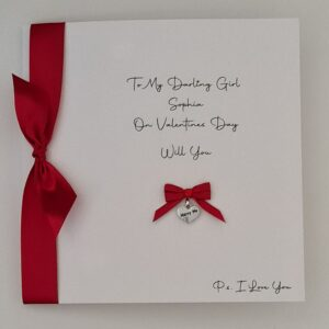 Will You Marry Me Personalised Valentines Card Contemporary Design Engagement Lover Girlfriend Boyfriend Partner Any Colour (SKU1180)