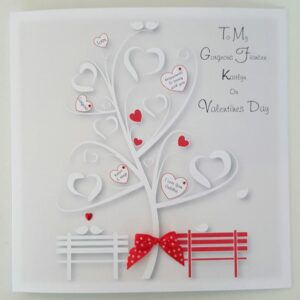 Personalised Contemporary Valentine's Day Card Wife Husband Fiancé Fiancée Girlfriend Boyfriend Lover Partner The One I Love (SKU1152)