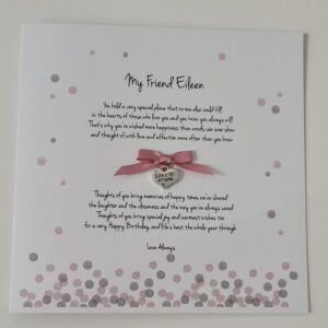 Personalised Birthday Card Special Friend Little Sister Big Sister Auntie Mum Any Relation, Occasion Or Colour 30th 40th 50th (SKU1194)