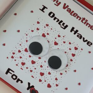 Personalised Cute Valentine's Day Card I Only Have Eyes For You Girlfriend Boyfriend Fiance Fiancee Wife Husband Partner (SKU1199)