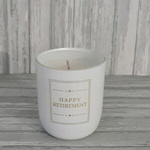 Retirement Gift Retirement Candle Celebration Scented Candles Glass Holder (SKU1174)