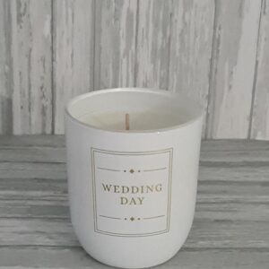 Wedding Day Candle Celebration Scented Candles Glass Holder (SKU1173)