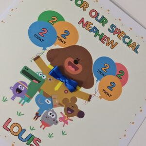 Personalised Hey Duggee & Squirrels 2nd Birthday Card Nephew Niece Godson Goddaughter Son Daughter Any Relation Or Age (SKU1224)