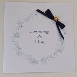 Personalised Contemporary Sending A Hug Just To Say Card Any Colour (SKU1225)