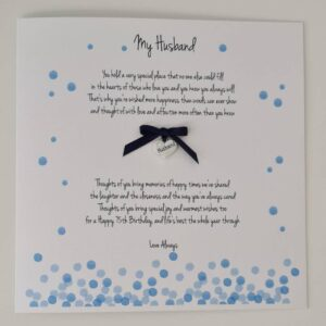 Personalised 75th Birthday Card Husband Boyfriend Partner Fiancé Any Relation, Occasion Or Colour 25th 30th 40th 50th 60th (SKU1222)