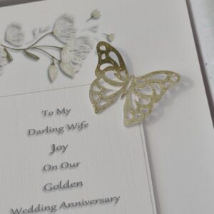 Personalised On Our 50th Golden Wedding Anniversary Card Husband Or Wife Any Couple Any Relation, Occasion Or Colour (SKU1244)