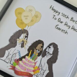 Personalised Happy Birthday From The Dogs Card Up to 3 Dogs Any Breed Dad Mum Husband Wife Nan Spaniel Terrier Westie 50th 60th (SKU1248)