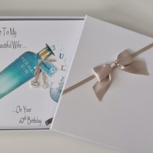 Personalised Mermaid Gin 60th Birthday Card Wife Daughter Sister Mum Nan Girlfriend Friend Auntie 18th 21st 25th 30th 40th 50th (SKU1247)