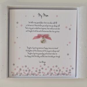 Personalised 80th Birthday Card Mom Mum Mother In law Mummy Step Mum Grandma Gran Granny Nan Nana Any Age Or Colour 30th 40th 50th (SKU1253)