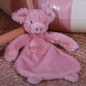 Pig Perry Plush Toy Or Tuttle / Comforter New Baby Gift Farmyard Animals Pig Soft Toy (SKU1259)