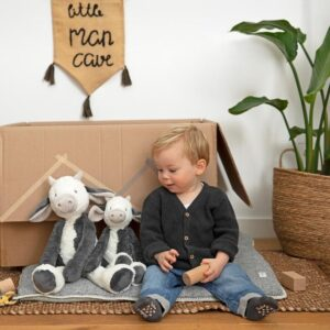 Cow Casper Plush Toy Or Tuttle / Comforter New Baby Gift Farmyard Animals Cow Soft Toy (SKU1260)