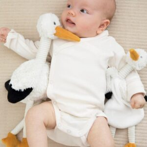 Stork Sky Plush Toy Or Tuttle / Comforter New Baby Gift New Baby Delivery Toy (SKU1261)