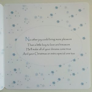 Personalised 8×8 1st Christmas Card Grandson Any Relation Box Option