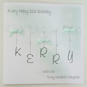 Large Personalised Birthday Card /  Any Age / Any Colour / Daughter / Granddaughter / Goddaughter / Niece / Auntie / Friend / Mum / Gran / Nan / 16th 18th 21st 25th 30th 40th 50th