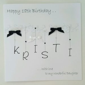 Personalised 18th Birthday Card Daughter Any Age  Any Colour  Any Person