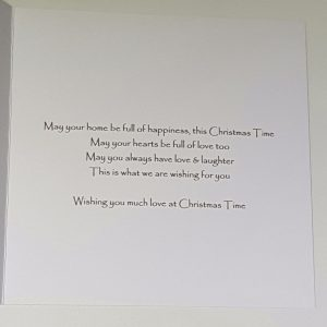 Personalised Christmas Card / 1st Christmas new home / Son / Daughter / Friends / Mum & Dad / Grandma & Grandad / Gift Boxed / Money Wallet