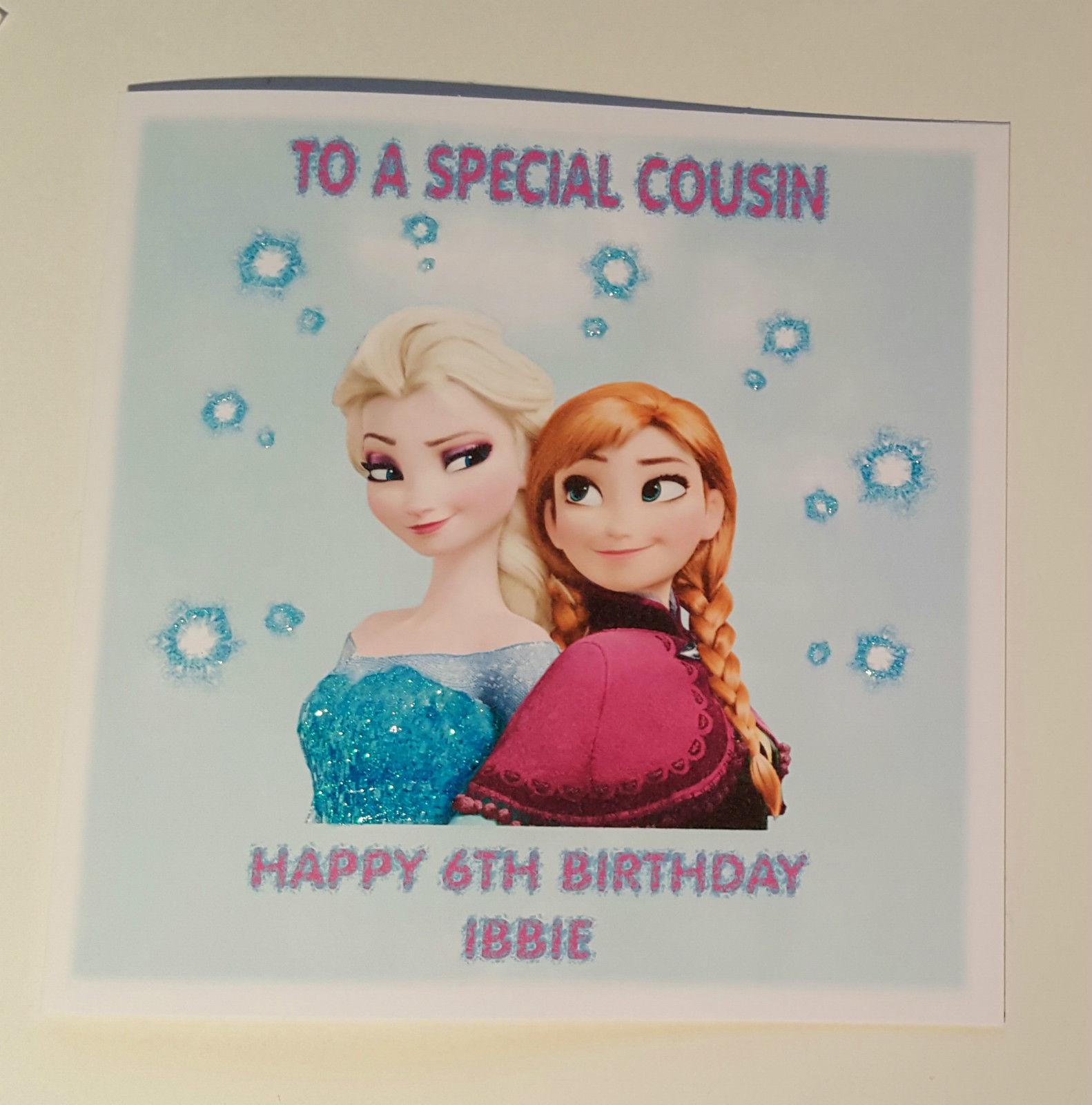 FROZEN Personalised Birthday Card FREE ShippingGranddaughter Niece Girls Sis