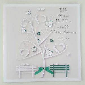 Personalised 55th Anniversary Card Mum Dad Any Relation Any Year Any Colour