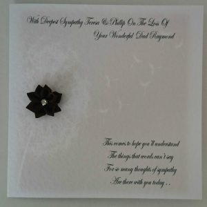 Personalised Bereavement Sympathy Card Condolence * DAD * ANY PERSON  ANY COLOUR