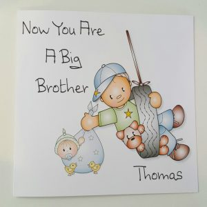 Personalised Big Sister Brother New Baby Boy Girl Any Person Any Colour