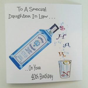 Personalised Birthday Card 40th Gin & Tonic Daughter in Law Sister Mum Auntie