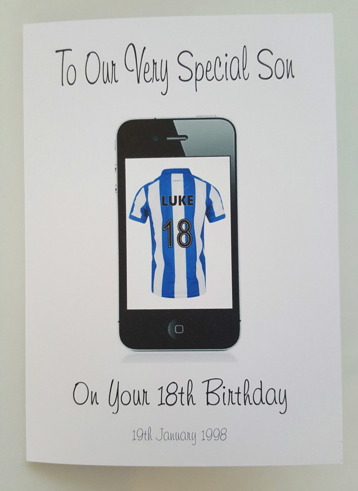 Personalised Birthday Card Son 18th