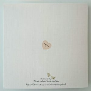 Personalised Wedding Day Card, Anniversary Peach Apricot, Any Colour