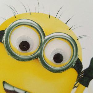 Personalised 8 x 8 Minion 2nd Birthday Card Grandson Any Age Any Person Many Other Characters