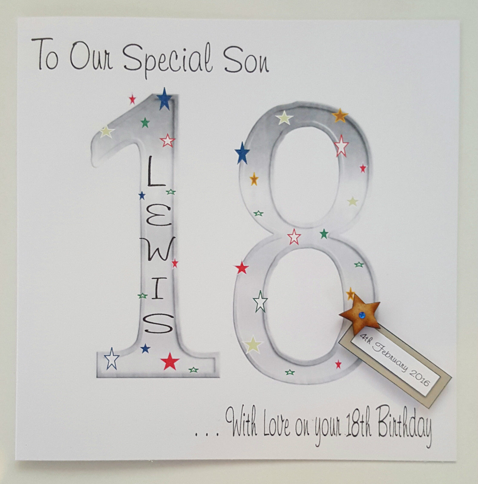 Large Personalised Birthday Card Grandson Son Nephew Godson Brother Dad Grandad Friend 18th 21ST 25TH 30TH 40TH 50TH