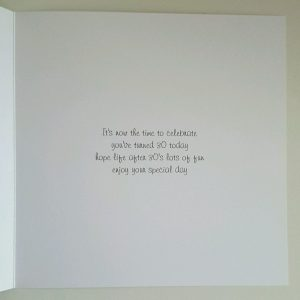 Personalised 30th Birthday Card Husband Son Any Relation Any Age Any Colour