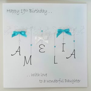 Personalised 19th Birthday Card Daughter Any Relation, Age Or Colour (SKU751)