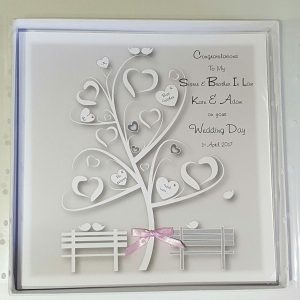 Personalised 8×8 Wedding Card Sister Brother In Law Any Relation Any Colour
