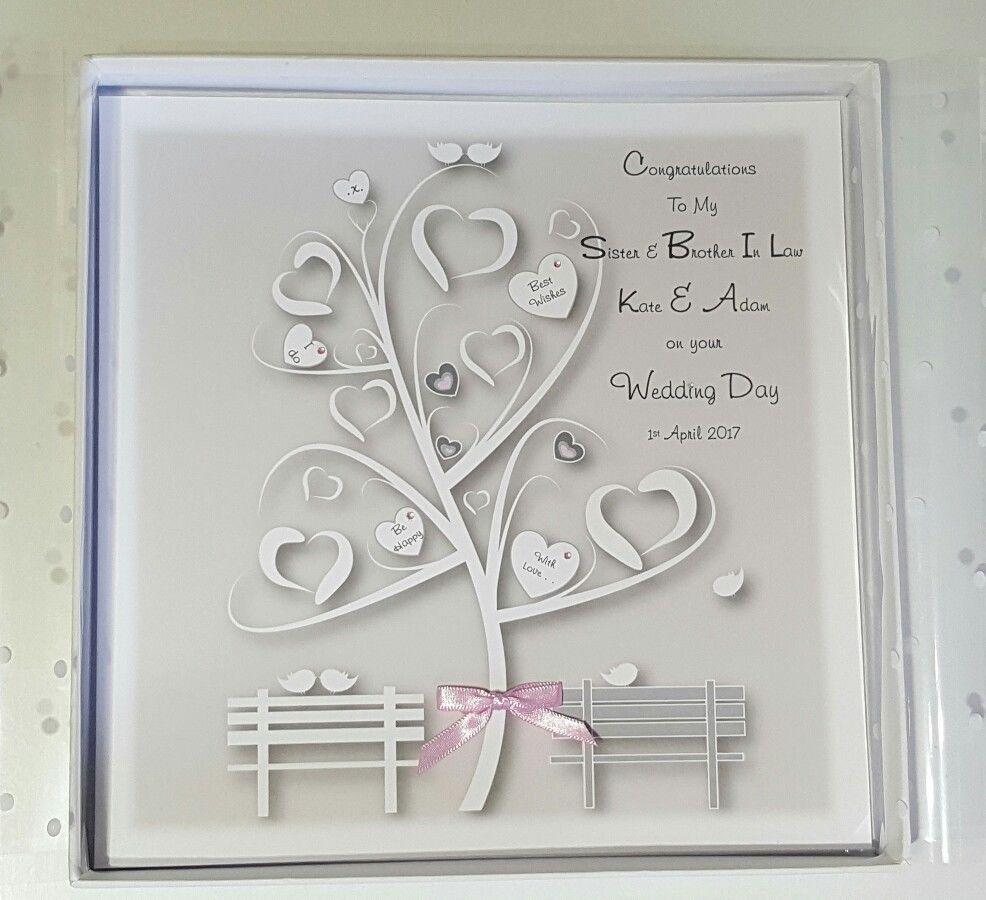 large personalised wedding card gift boxed option money wallet