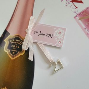 Personalised 21st Pink Champagne Birthday Card Daughter Any Relation, Age Or Tipple (SKU0003)