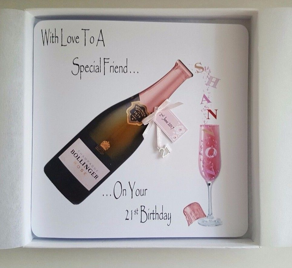 Personalised 21st Birthday Card Daughter