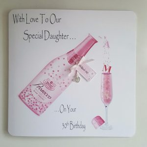 Personalised 30th Prosecco Birthday Card Daughter Any Relation, Age Or Tipple (SKU313)