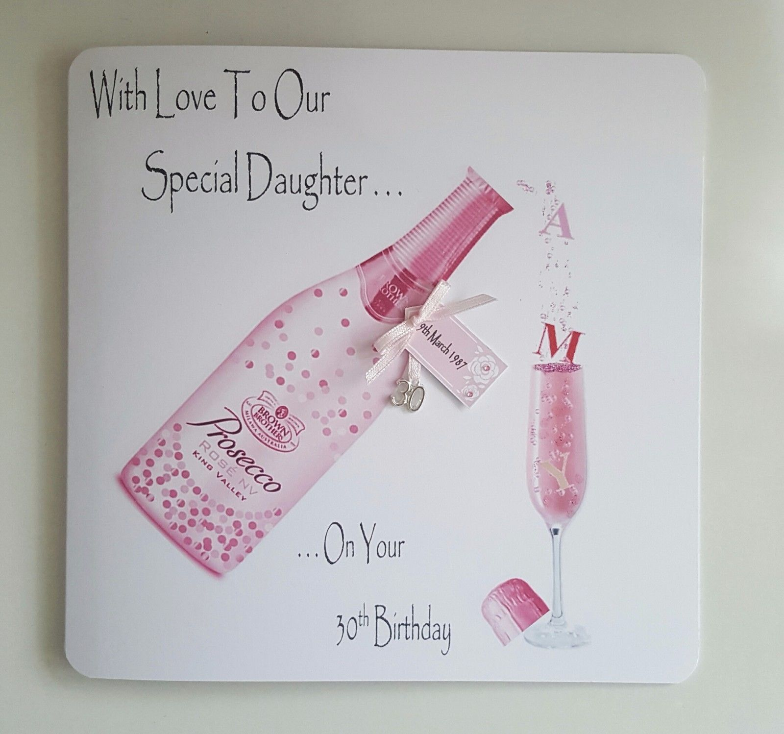 Personalised 30th Birthday Card Daughter Prosecco 18th 21st