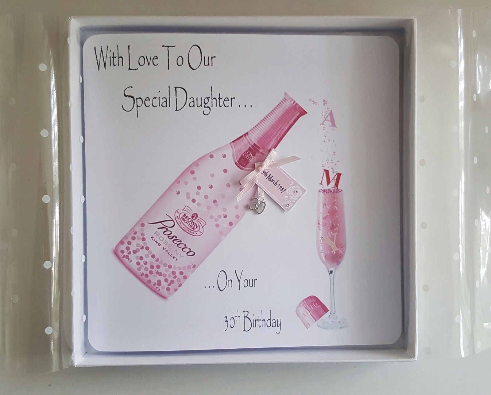 Personalised 30th Birthday Card Daughter