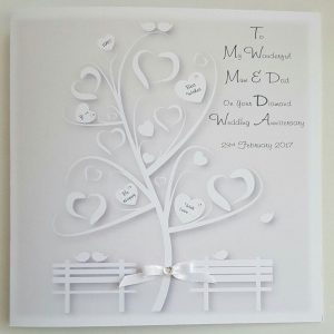 Personalised 40th Anniversary Card Mum Dad Any Relation Any Year Any Colour