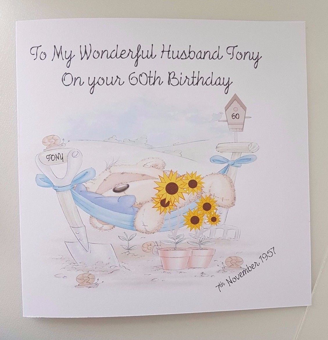 Personalised Husband Birthday Card 40th 50th 60th